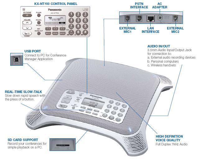 Điện thoại hội nghị IP Panasonic KX-NT700