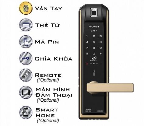 Khóa cửa điện tử cao cấp dùng mã pin, thẻ từ và chìa khóa HIONE PLUS H-5290