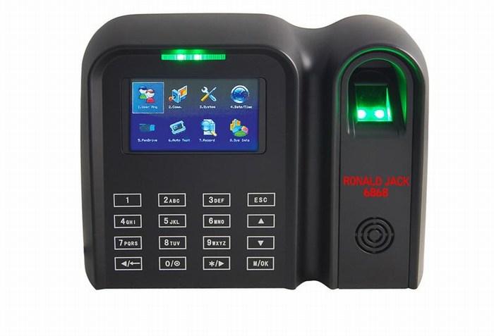Máy chấm công vân tay và thẻ cảm ứng RONALD JACK 6868