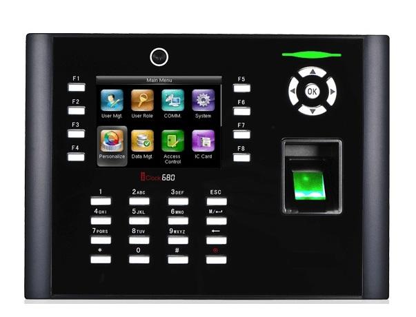 Máy chấm công vân tay và thẻ cảm ứng RONALD JACK ICLOCK 680