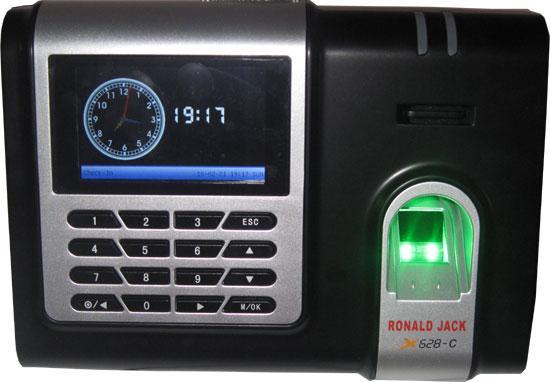 Máy chấm công vân tay và thẻ cảm ứng RONALD JACK X-628C