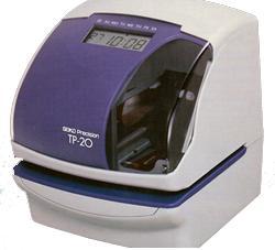 Máy ghi nhận thời gian, số liệu SEIKO TP-20