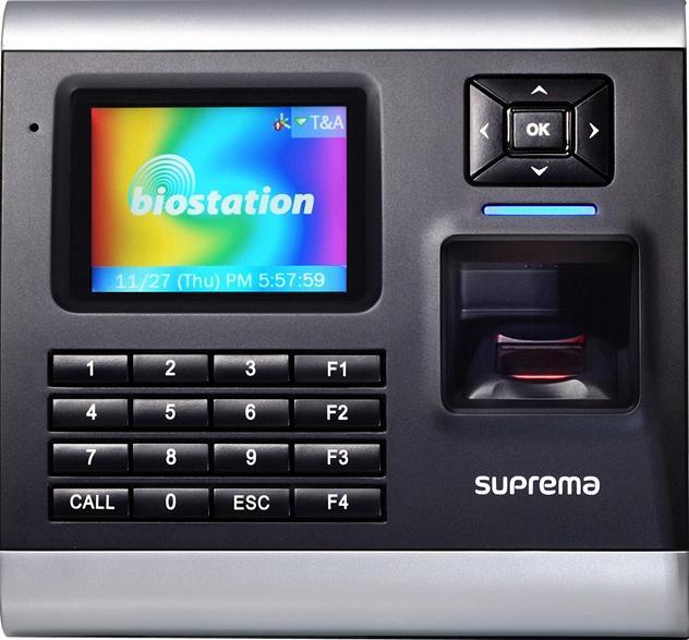 Máy chấm công kiểm soát cửa, vân tay và thẻ SUPREMA BioStation BSH-OC