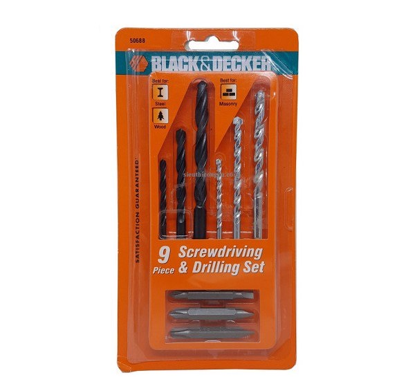 Black & Decker 50688G 9-piece drill and screw set