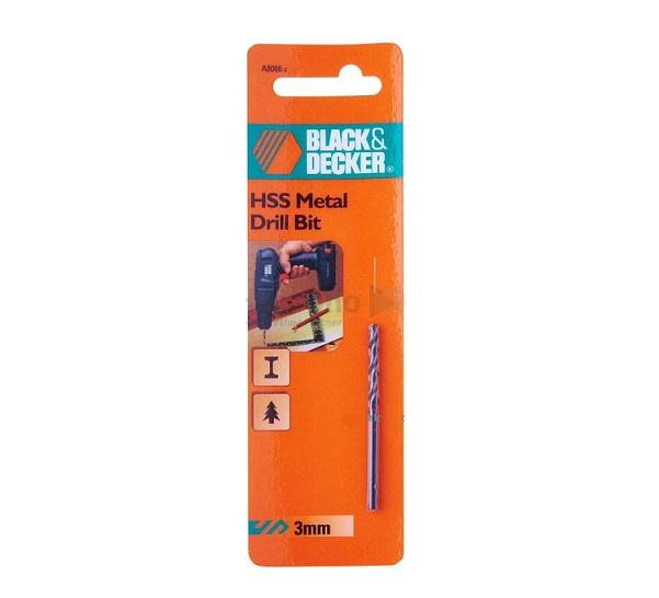 Mũi khoan sắt HSS 3.0mm Black & Decker A8066