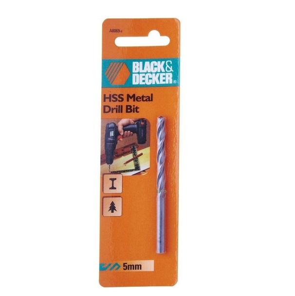 Mũi khoan sắt HSS 5.0mm Black & Decker A8069