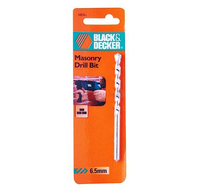 Mũi khoan gạch bê tông 6.5mm Black & Decker A8676