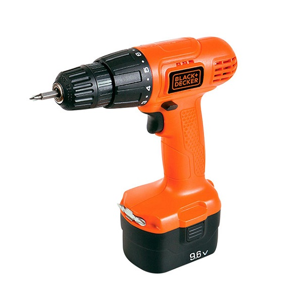 Drill and screwdriver using 9.6V Black & Decker CD961 battery
