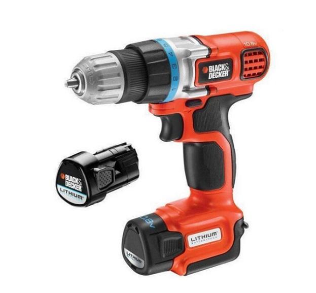 Drill, screwdriver using battery 10.8V Black Decker EGBL108PK