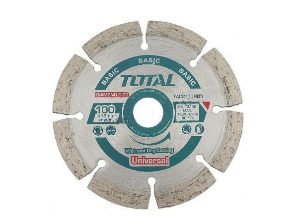 """Đĩa cắt gạch khô hợp kim 4""""/100mm TOTAL TAC2111003"""