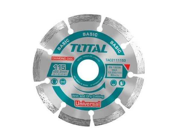"""Đĩa cắt gạch khô hợp kim 115(4-1/2"""")mm TOTAL TAC2111153"""