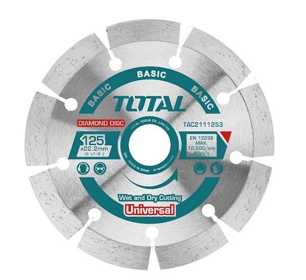 """Đĩa cắt gạch khô hợp kim 5""""/125mm TOTAL TAC2111253"""