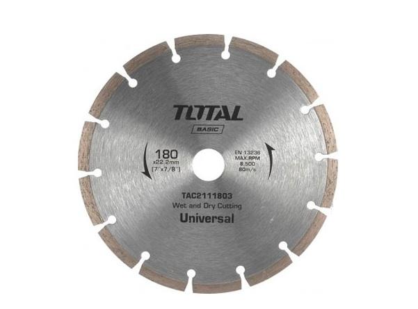"""Đĩa cắt gạch khô hợp kim 7""""/180mm TOTAL TAC2111803"""