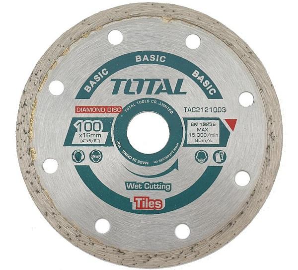 """Đĩa cắt gạch ướt hợp kim 4""""/100mm TOTAL TAC2121003"""