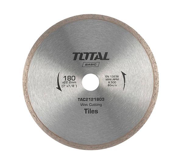 """Đĩa cắt gạch ướt hợp kim 7""""/180mm TOTAL TAC2121803"""