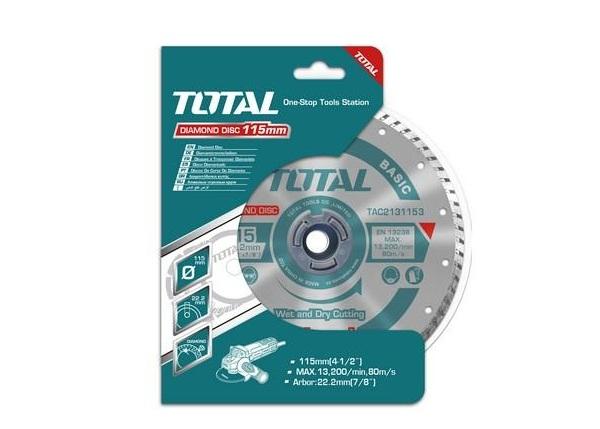 """Đĩa cắt gạch hợp kim 4.5""""/115mm TOTAL TAC2131153"""