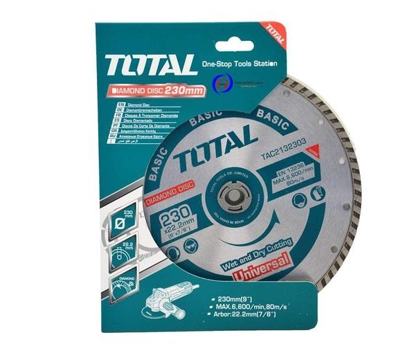 """Đĩa cắt gạch hợp kim 9""""/230mm TOTAL TAC2132303"""