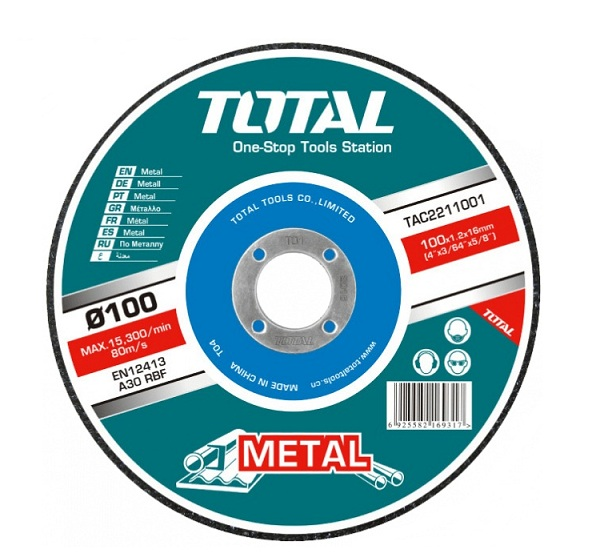 100mm TOTAL TAC2231001SA metal grinding disc (TAC2231001)