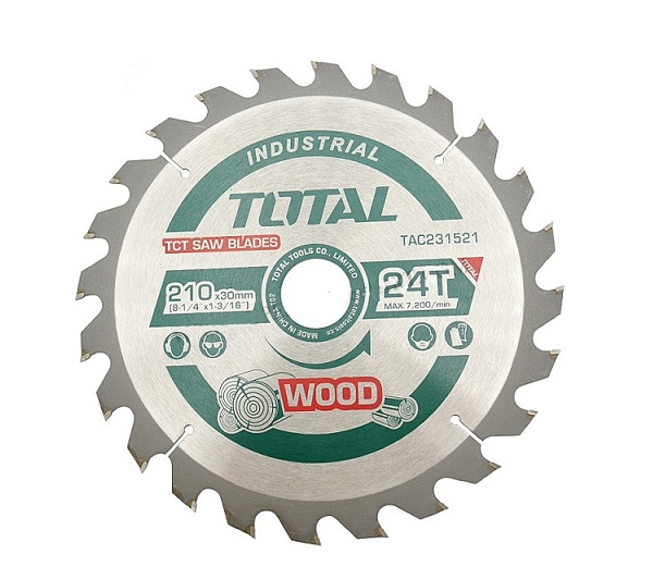 TCT 210mm saw blade 24 teeth TOTAL TAC231521