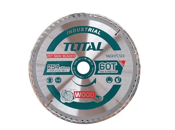 Lưỡi cưa gỗ TCT 254mm 60 răng TOTAL TAC231723