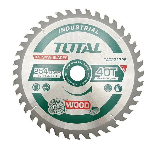 Lưỡi cưa gỗ TCT 254mm 40 răng TOTAL TAC231725