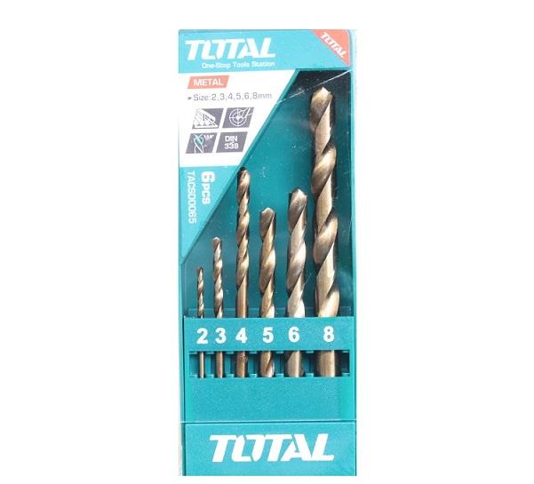 Bộ 6 mũi khoan kim loại TOTAL TACSD0065