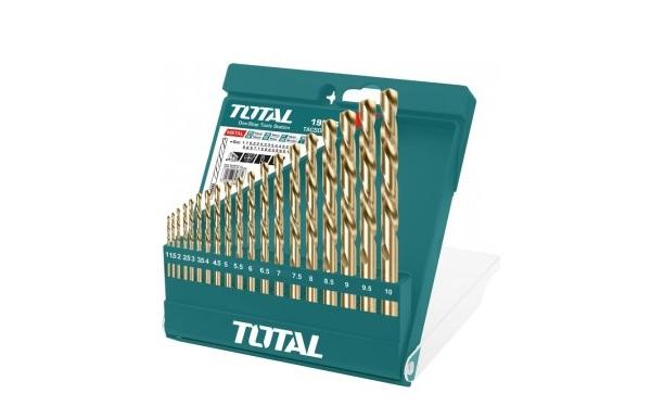 Bộ 19 mũi khoan kim loại HSS TOTAL TACSD0195