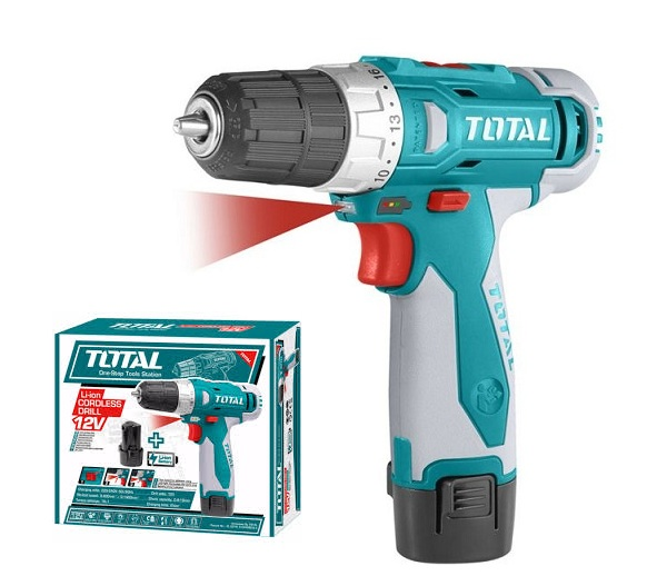 Drill with TOTAL TDLI228120-1 battery