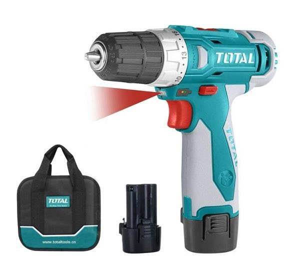 TOTAL TDLI228120 battery drill