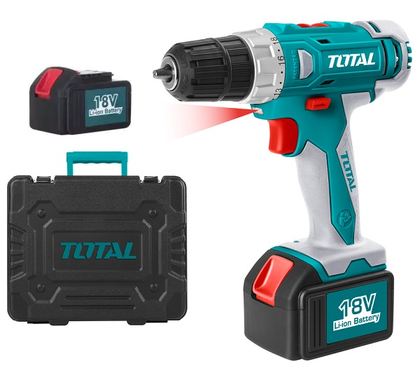 Battery drill uses TOTAL TDLI228180