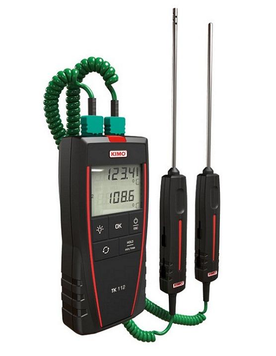 Máy đo nhiệt độ tiếp xúc 2 kênh đo KIMO TK112