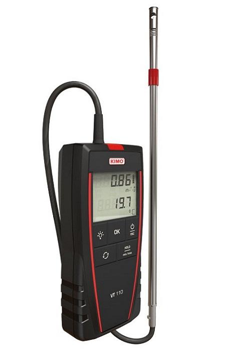 Máy đo sức gió, lưu lượng gió KIMO VT110