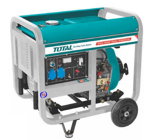 Máy phát điện dùng dầu Diesel 5.0KW TOTAL TP450001