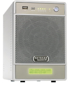 ReadyNAS NV+ 2TB Gigabit desktop network storage (4X 500 GB) - RND4450