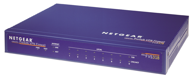 ProSafe VPN Firewall 8 w/8 port 10/100 switch - FVS318