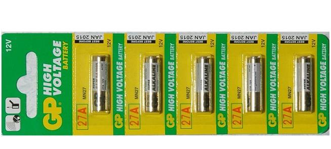 Pin dùng cho công tắc từ và remote 27A