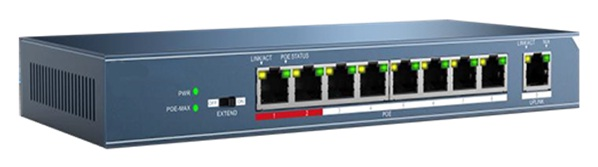 Công tắc PoE 8 cổng 10 / 100Mbps HDPARAGON HDS-SW108POE / M