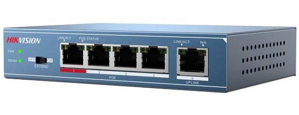 Công tắc PoE 4 cổng 100Mbps không được quản lý HIKVISION DS-3E0105P-E