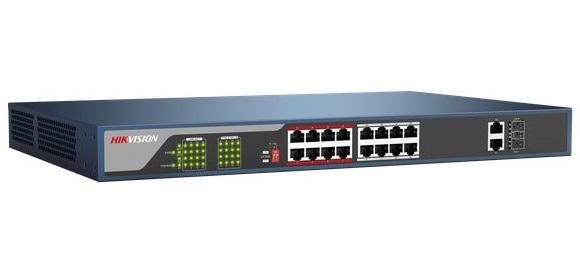 Công tắc PoE 16-100M / 10Mbps không được quản lý HIKVISION DS-3E0318P-E
