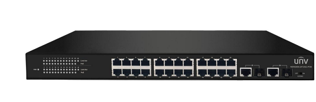 Bộ chuyển mạch PoE Ethernet 24 cổng 10 / 100Mbps UNV NSW2000-24T2GC-POE