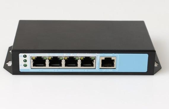 Chuyển đổi PoE 4 cổng 10/100 / 1000Mbps ĐIỆN THOẠI NO-AFG-41 (65Watt)