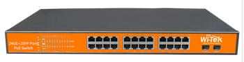Chuyển đổi 24 cổng 10/100 / 1000Mbps PoE WITEK WI-MS326GF