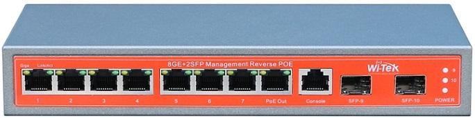 Công tắc PoE 8GE + 2SFP Gigabit hoàn toàn Gigabit WITEK WI-PMS 310GF-24V