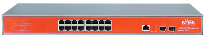 Cổng 16GE + 2SFP Chuyển đổi hoàn toàn Gigabit 24 V PoE WITEK WI-PMS318GF-24V