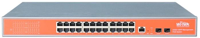 Công tắc PoE 24GE + 2SFP Full Gigabit 48V WITEK WI-PMS326GF