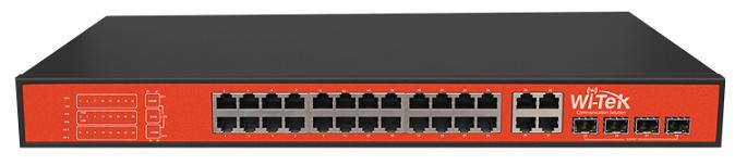Công tắc PoE 24FE + 4 Gigabit 24 WITEK WI-PS128GF-24V