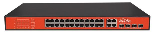 Công tắc PoE 24V 10 cổng 10 / 100Mbps WITEK WI-PS128GF