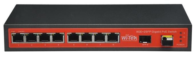 8 ports 10/100 / 1000Mbps 24V PoE Switch WITEK WI-PS310GFR