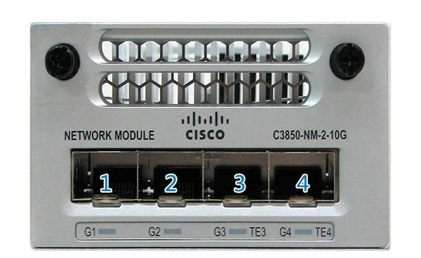 Mô-đun mạng 2 x 10GE dự phòng Cisco C3850-NM-2-10G