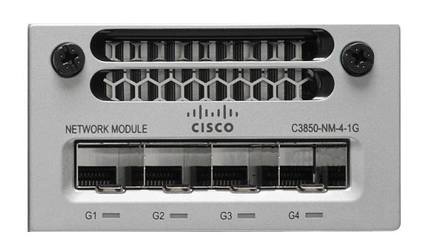 Mô-đun mạng 4 x 1GE dự phòng Cisco C3850-NM-4-1G